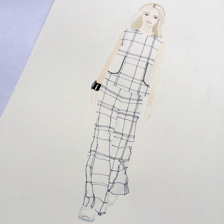 Fashion illustration Hermes inspired