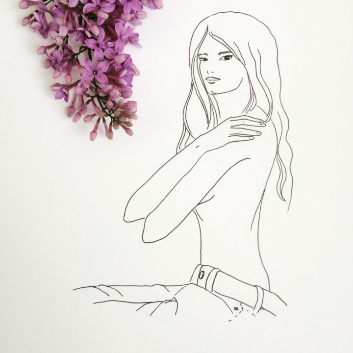Girl and lilac