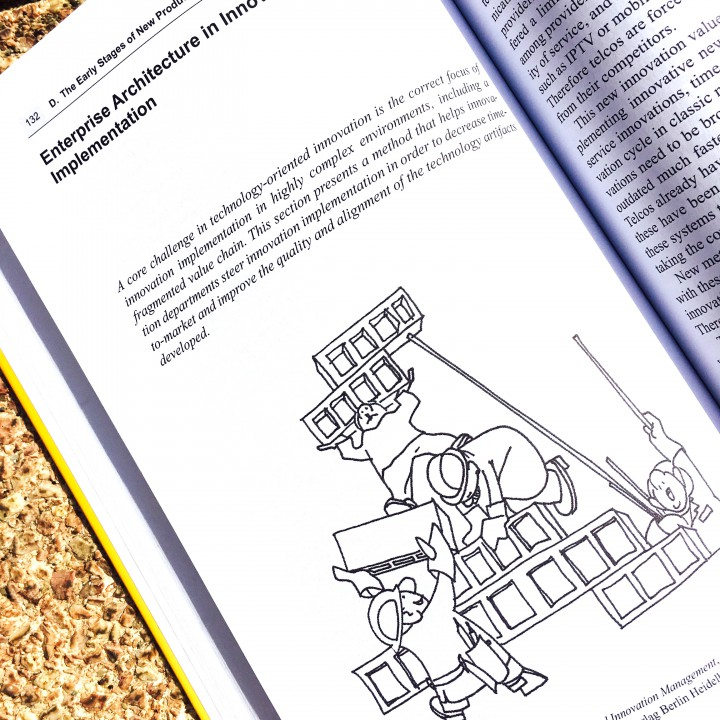 Management book illustration