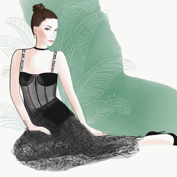 Customer portrait in Christian Dior