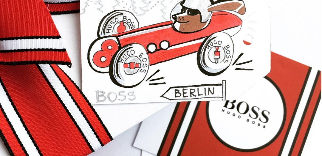 Live-Illustration/Christmas Event 2017 for the new HUGO BOSS campaign