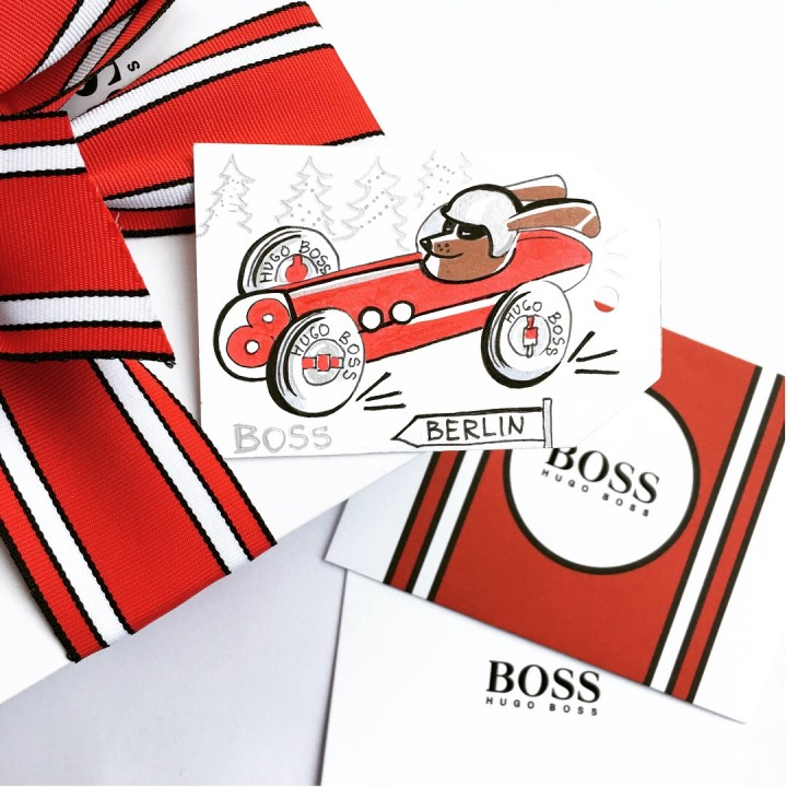 HUGO BOSS In the Fast Lane  Campaign/Christmas/Live-Illustration