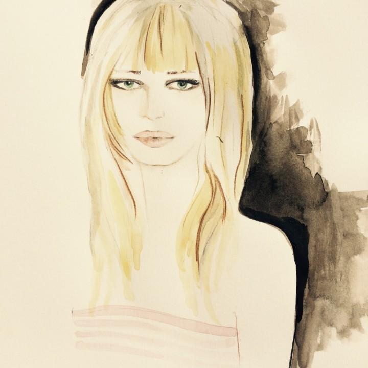 Portrait watercolor