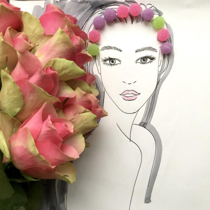 Flower girl illustration serie