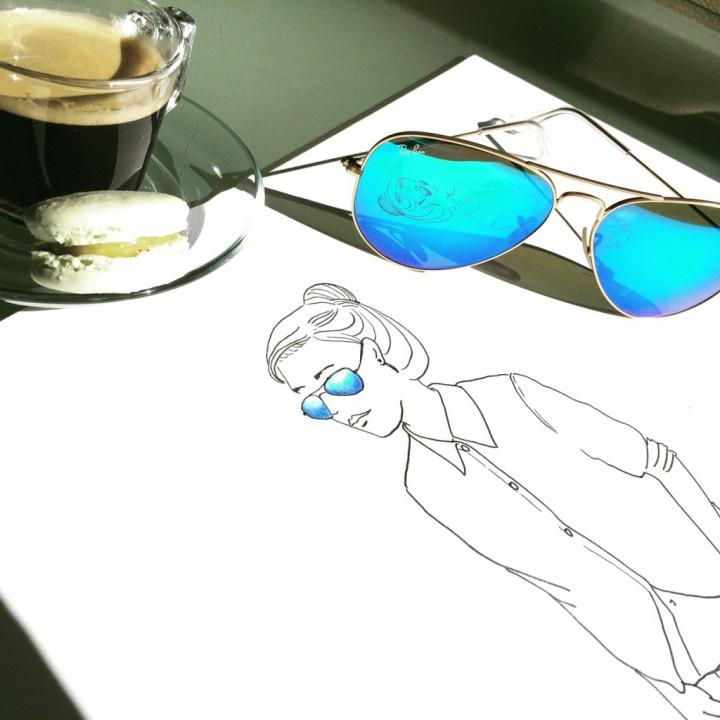 Blue sunglasses